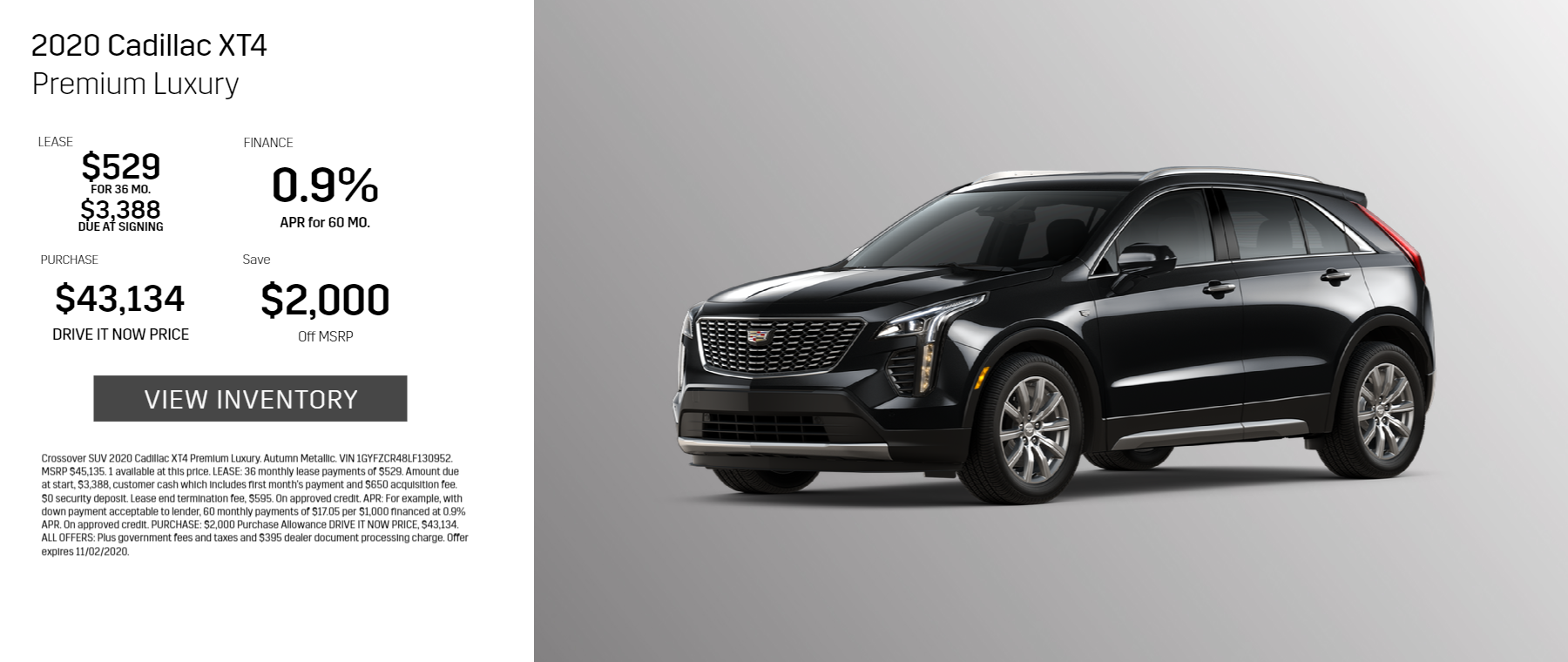 2020 Cadillac Premium Luxury
