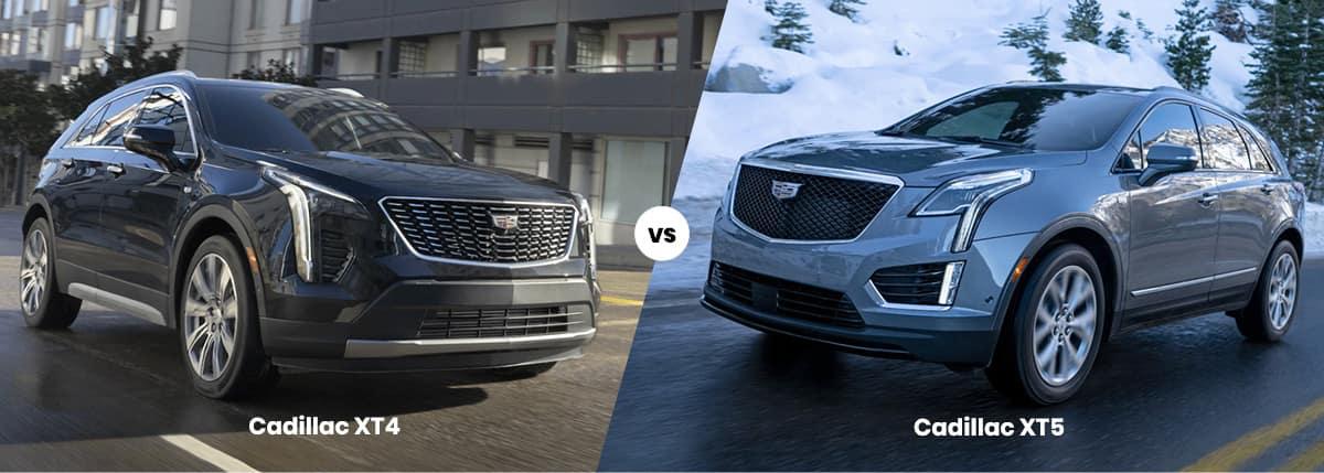 2021 Cadillac XT4 vs Cadillac XT5 Comparison Banner