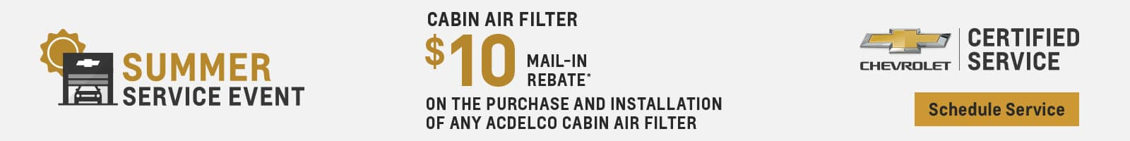 $10 Off Cabin Air Filter