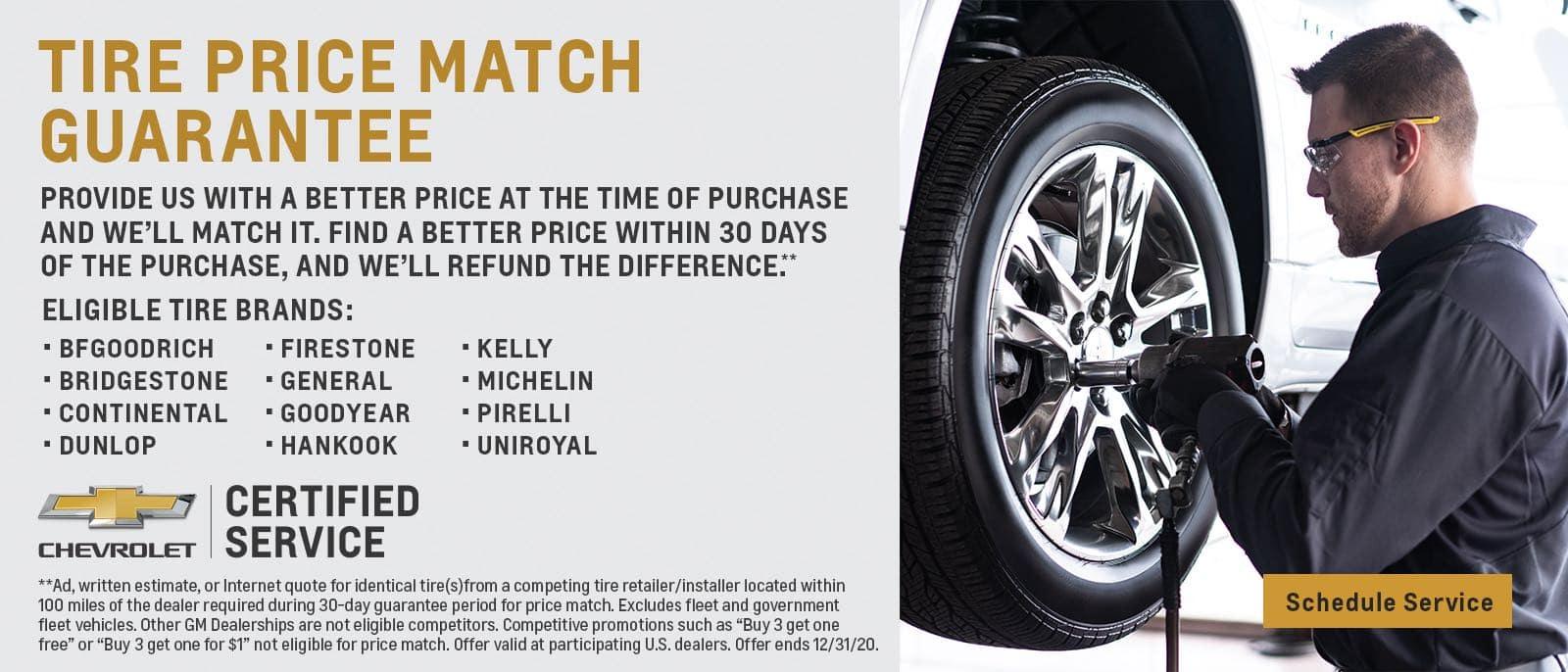 Tire Price Match Sept 2020