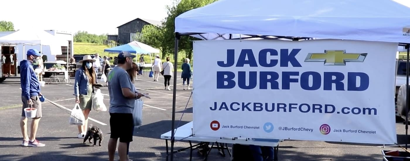 Jack Burford supports the Madison County Farmer's Market