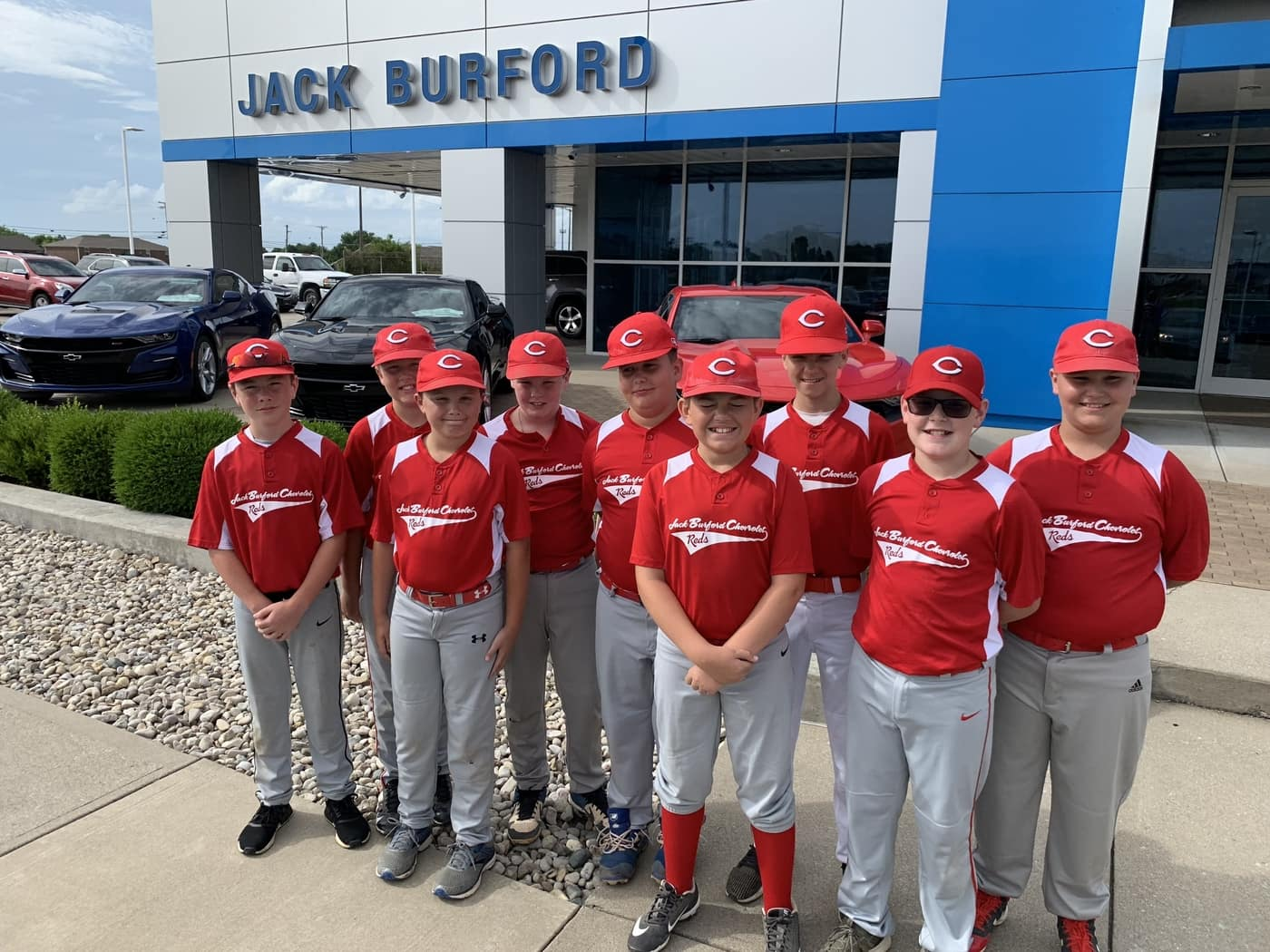 Jack Burford supports the Richmond Little League