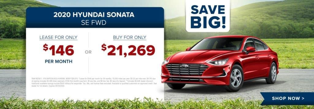 New 2020 Hyundai Sonata SE FWD