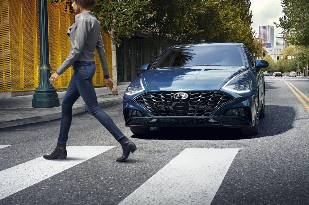 2020 Hyundai Sonata Stopping for Crosswalk