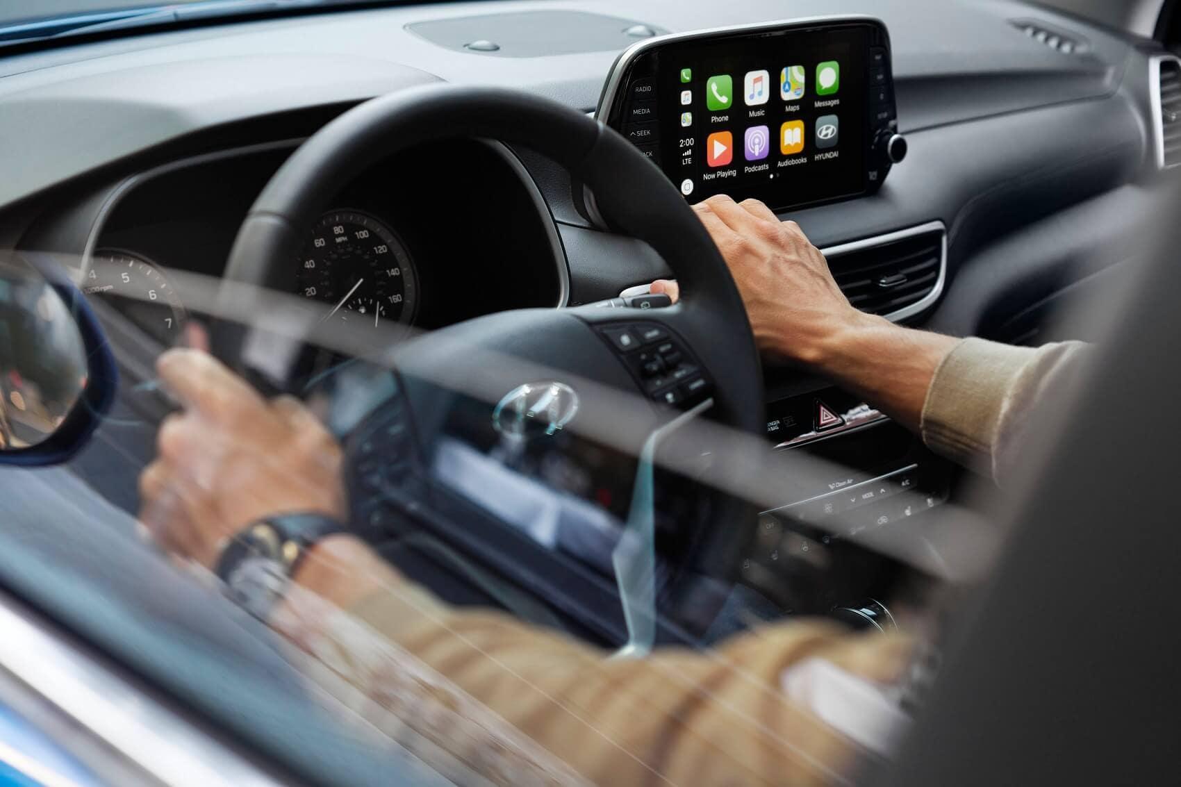 Hyundai Tuscon Interior with Apple CarPlay® Technology