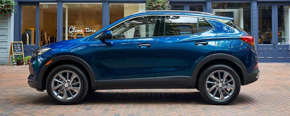 Blue Buick Encore GX Side Profile