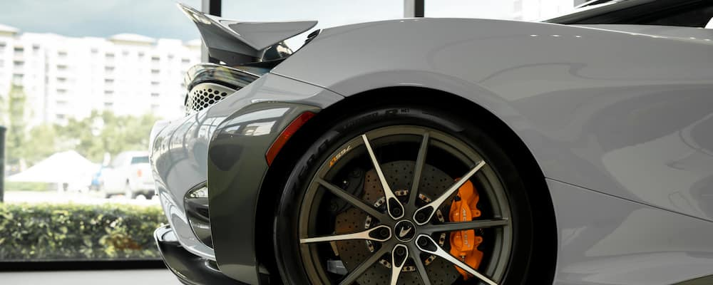 2021 McLaren 765LT back end and rear tire