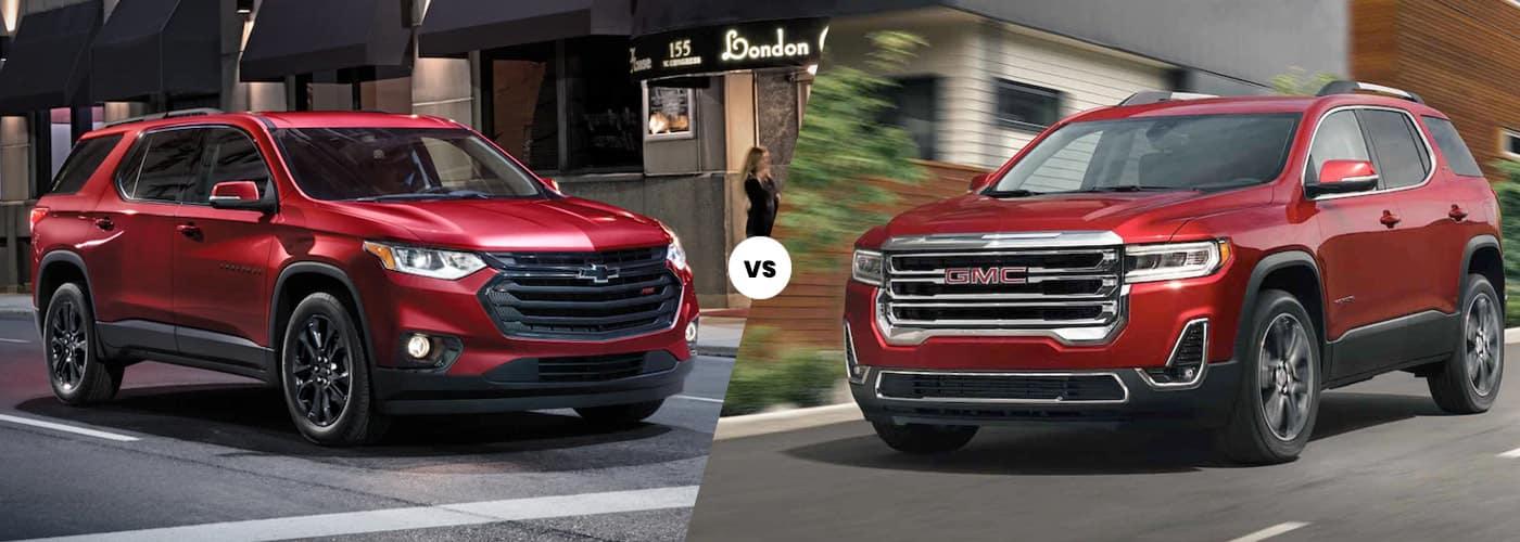 2021 Chevrolet Traverse vs 2021 GMC Acadia Comparison
