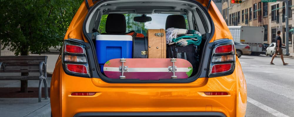 Chevy sonic with stuff in the trunk