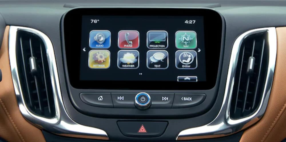 Chevrolet Mylink on the dashboard
