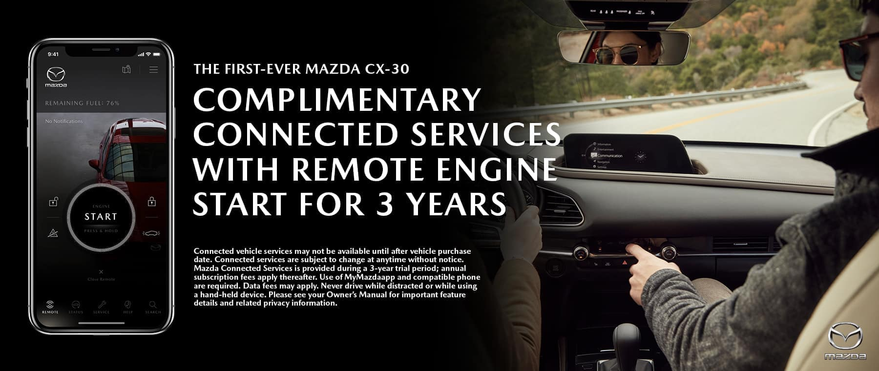 Mazda CX30 Connected Banner 1800x760