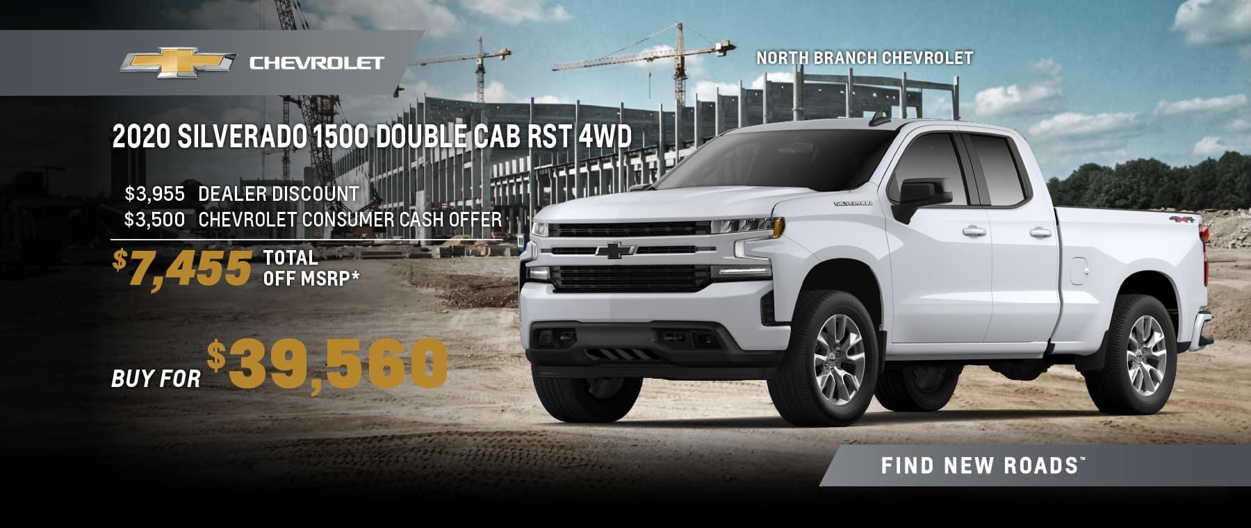 2020 CHEVROLET SILVERADO 1500 DOUBLE CAB RST 4WD