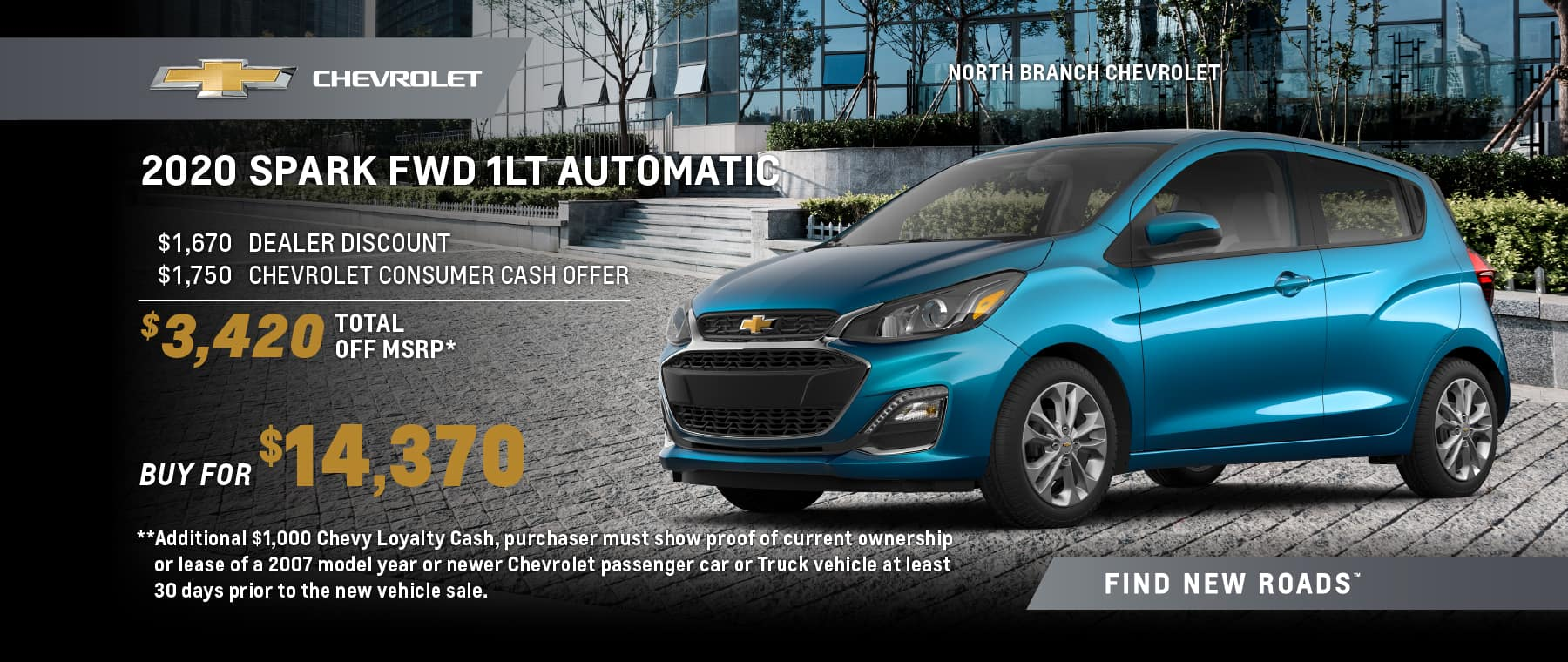 2020 CHEVROLET SPARK 1LT FWD AUTOMATIC
