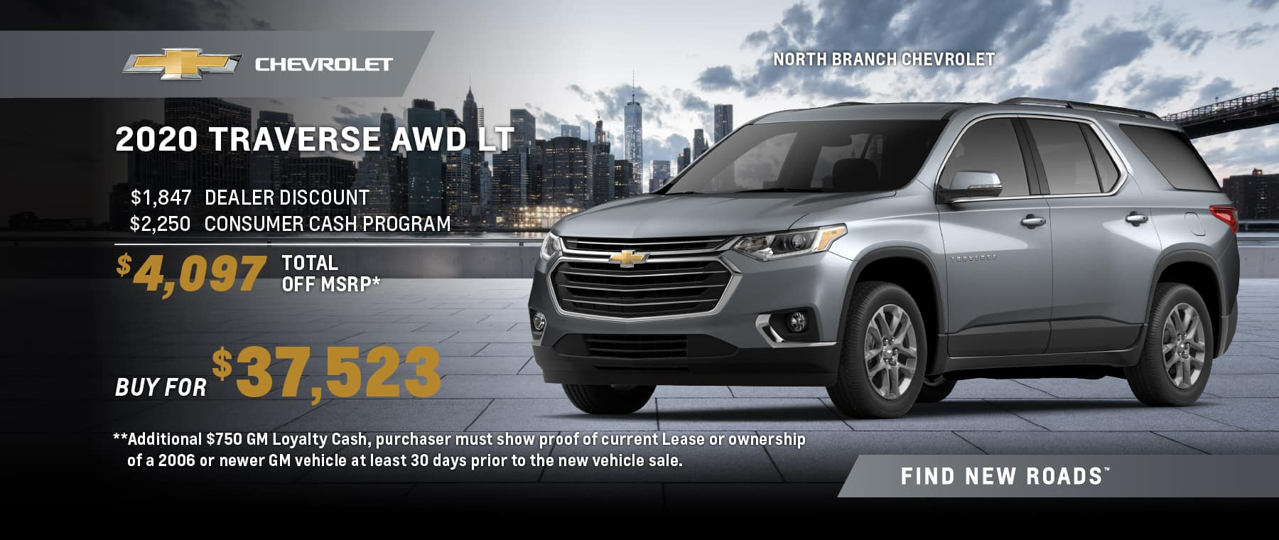 2020 CHEVROLET TRAVERSE AWD LT