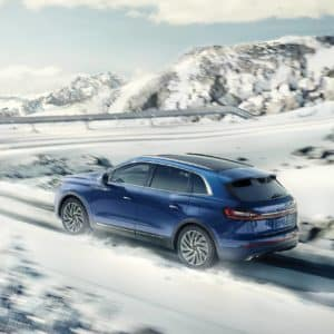 2020 Lincoln Nautilus driven on a snow covered road