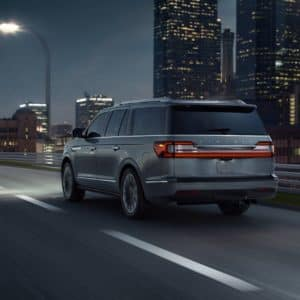 2020 Lincoln Navigator is being driven on a highway