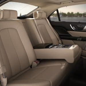 Audio and climate controls are shown in the rear seat amenities package