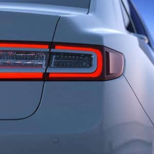 LED taillamps of a Lincoln Continental