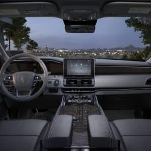 The front cabin of the 2020 Lincoln Navigator
