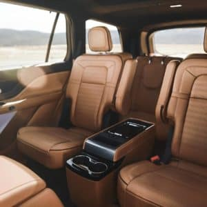 The second and third rows of a Lincoln Aviator