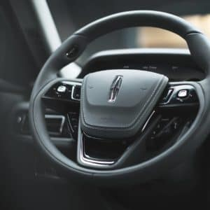 The vision steering wheel in a Lincoln Aviator