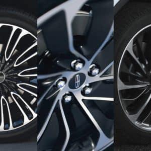 Three Lincoln Aviator wheel optionsThree Lincoln Aviator wheel options
