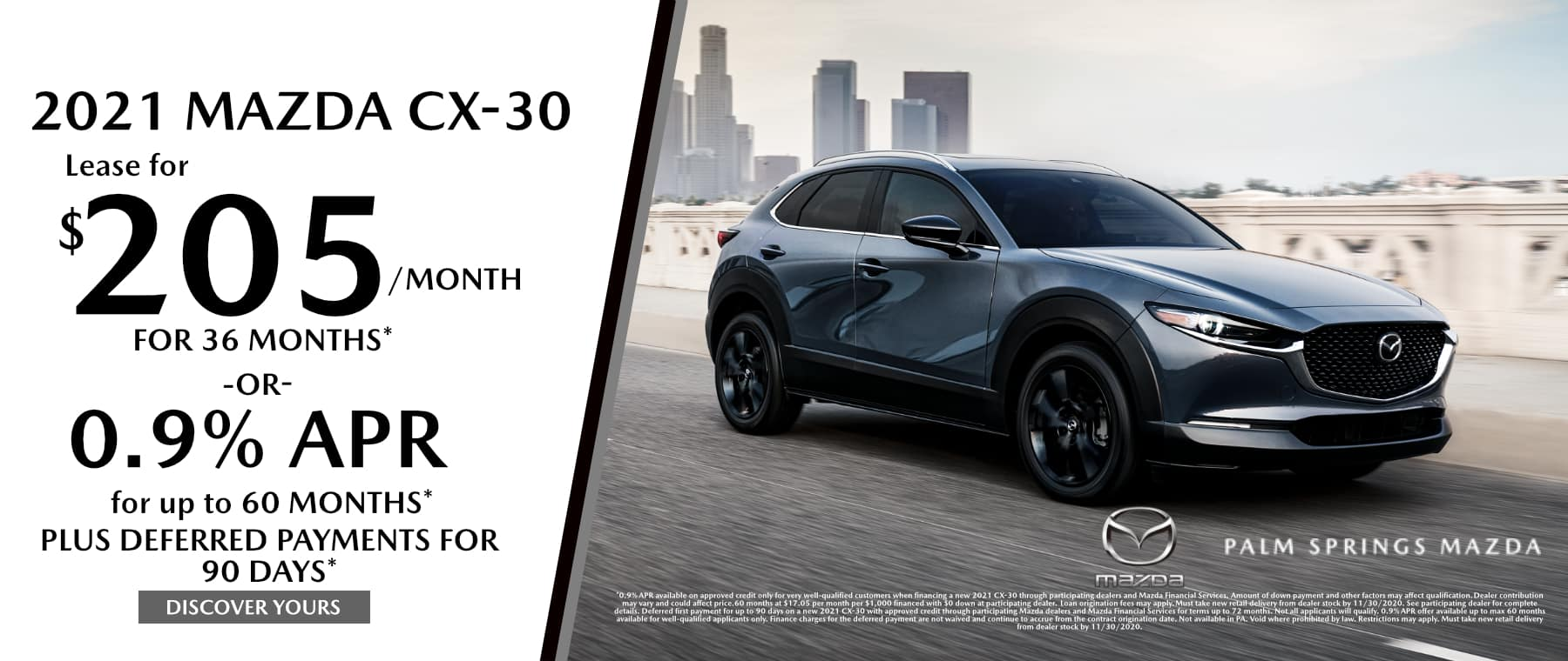 November-2020 CX30 Palm Springs Mazda