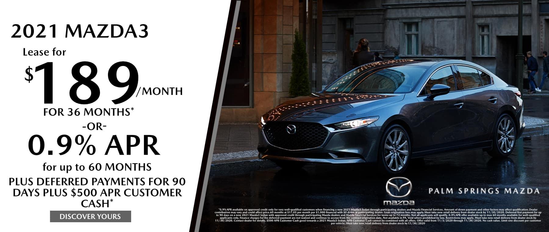 November-2020 Mazda3 Palm Springs Mazda