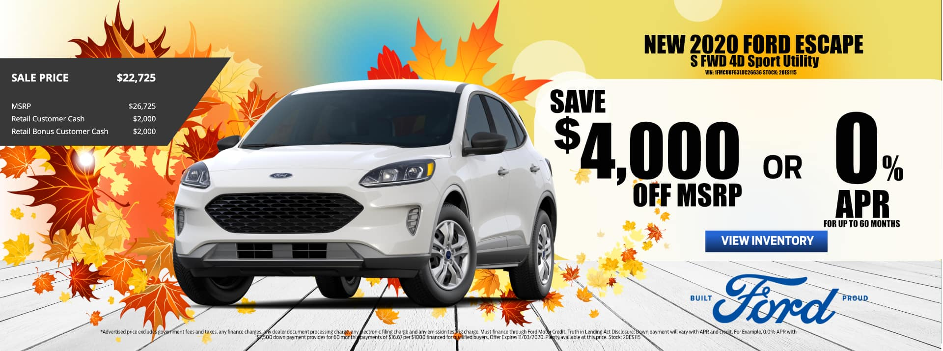 October-2020 Ford_ESCAPE_Sale_PMS