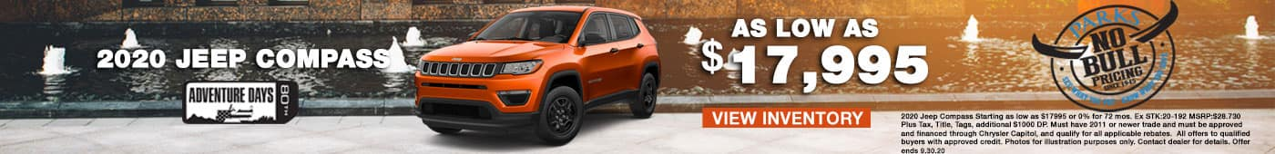 2020 jeep compass as low as $17,995