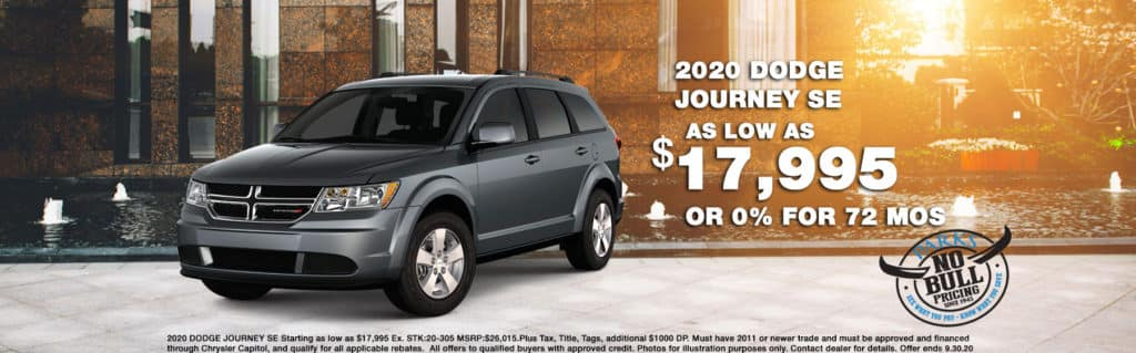 2020 DODGE JOURNEY SE   Starting as low as $17,995