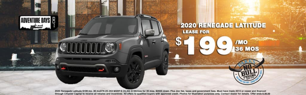 2020 JEEP RENEGADE SPORT 4X2   Starting as low as $16995 or 0% for 72 mo