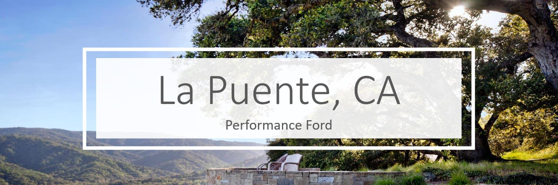 Ford Dealer in La Puente CA