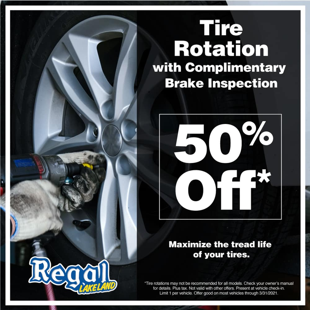 50% Off Tire Rotation with Complimentary Brake Inspection