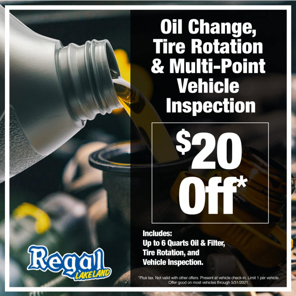 Oil Change, Tire Rotation & Multi-Point Inspection $20 off