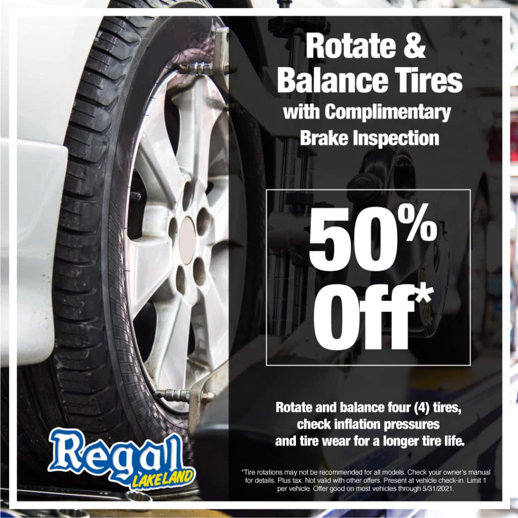Rotate & Balance Tires w/ complimentary Brake Inspection