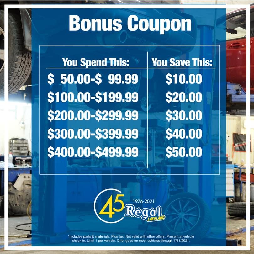 Bonus coupon