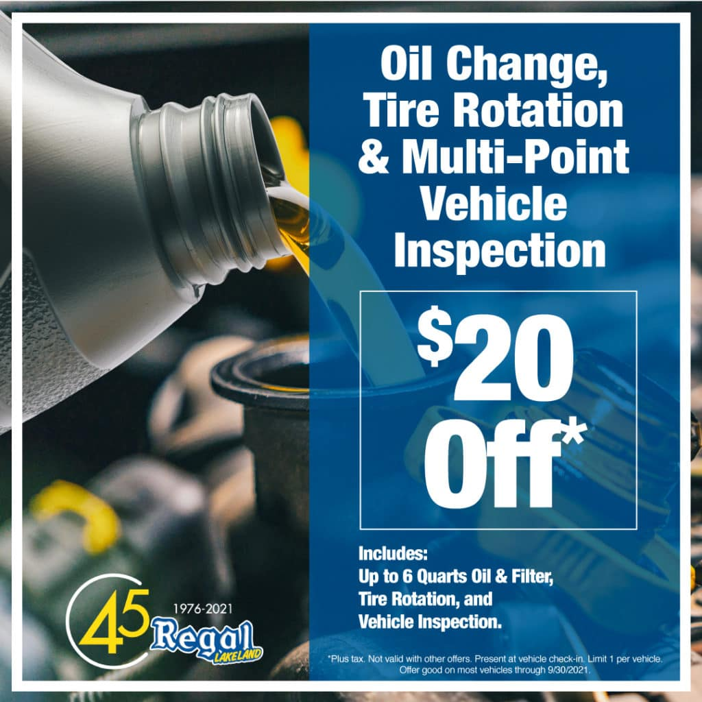 Oil Change, Tire Rotation, and Multi-Point Vehicle Inspection