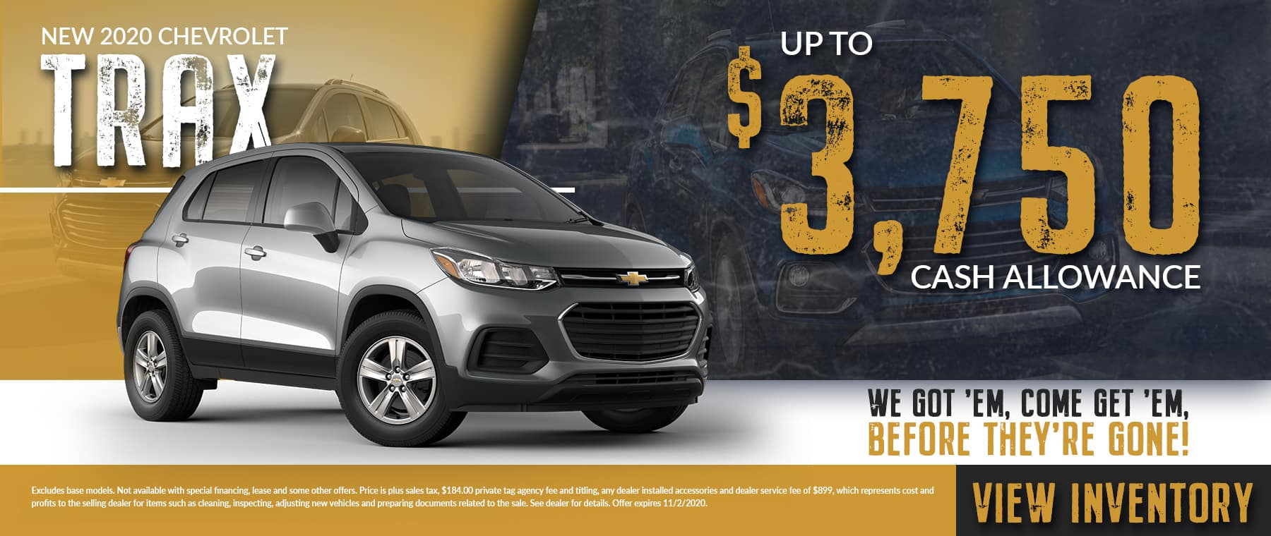 We Got 'Em, Come Get 'Em, Before They're Gone | New 2020 Chevrolet Trax | Up To $3,750 Cash Allowance