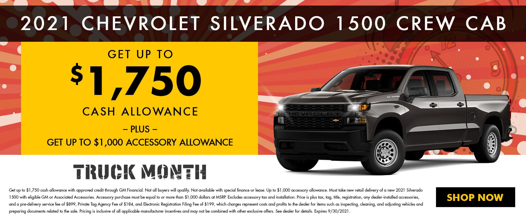 2021 Chevrolet Silverado 1500 Crew Cab   Get Up To $1,750 Cash Allowance - PLUS - Get Up To $1,000 Accessory Allowance