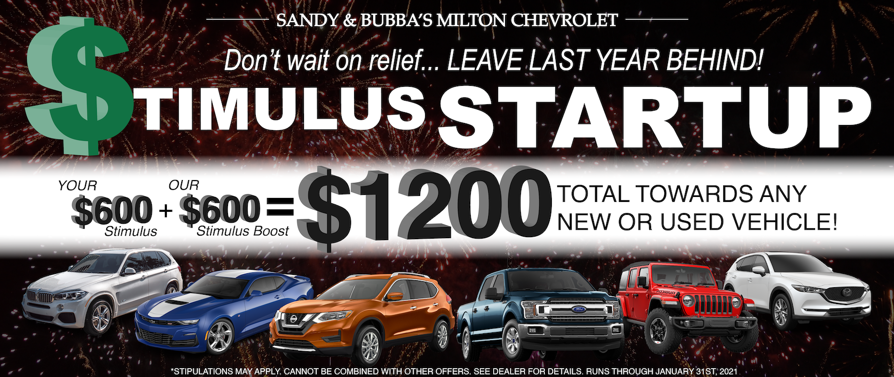 Stimulus savings new cars