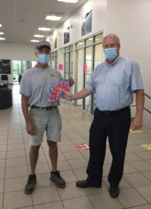 Seaway GM customer receiving tickets