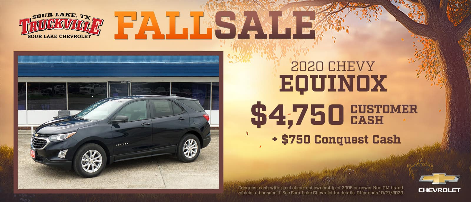 2020 Chevrolet Equinox Fall Sale Event | Sour Lake, TX