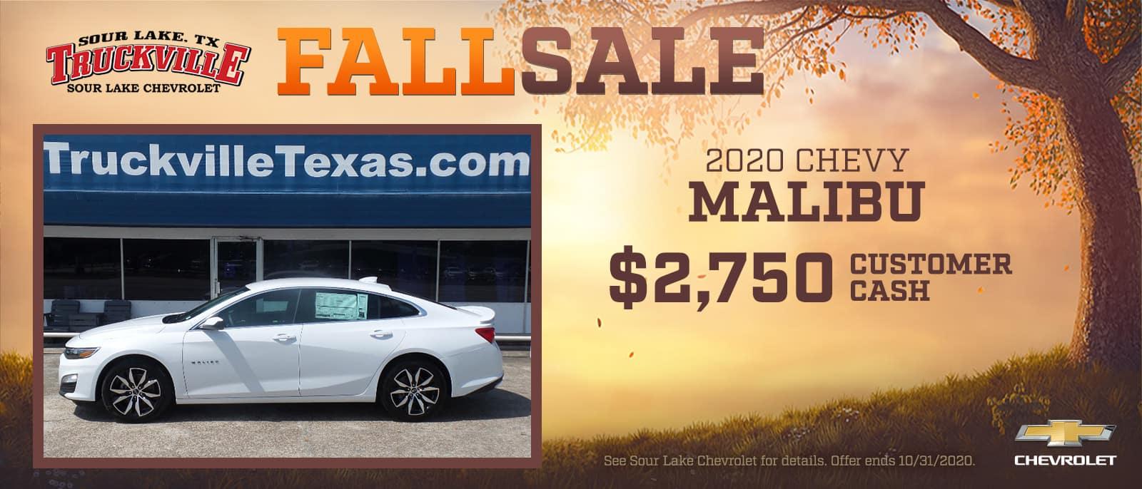 2020 Chevrolet Malibu Fall Sale Event | Sour Lake, TX