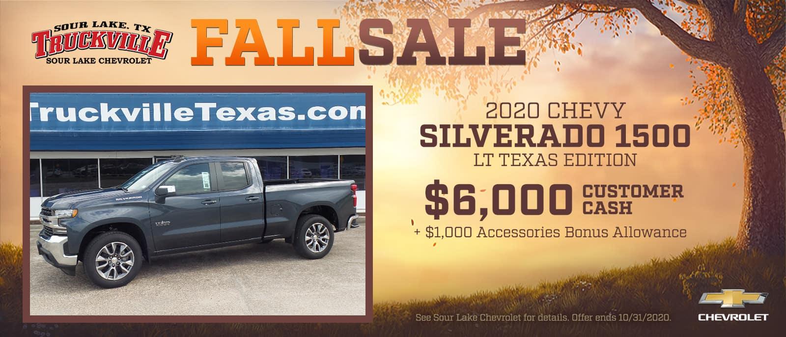 2020 Chevrolet Silverado 1500 Fall Sale Event | Sour Lake, TX