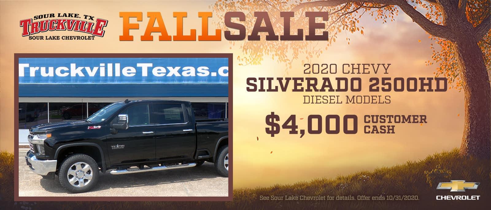 2020 Chevrolet Silverado 2500HD Fall Sale Event | Sour Lake, TX
