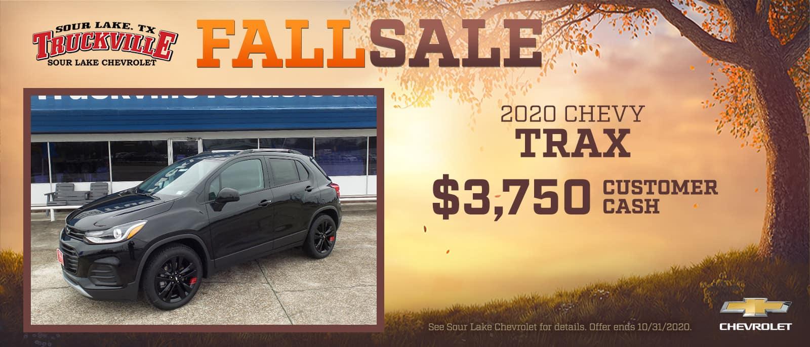 2020 Chevrolet Trax Fall Sale Event | Sour Lake, TX