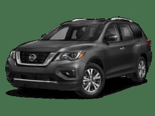 angled 2020 Nissan Pathfinder