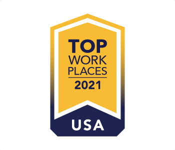 Top Work Places 2021 logo