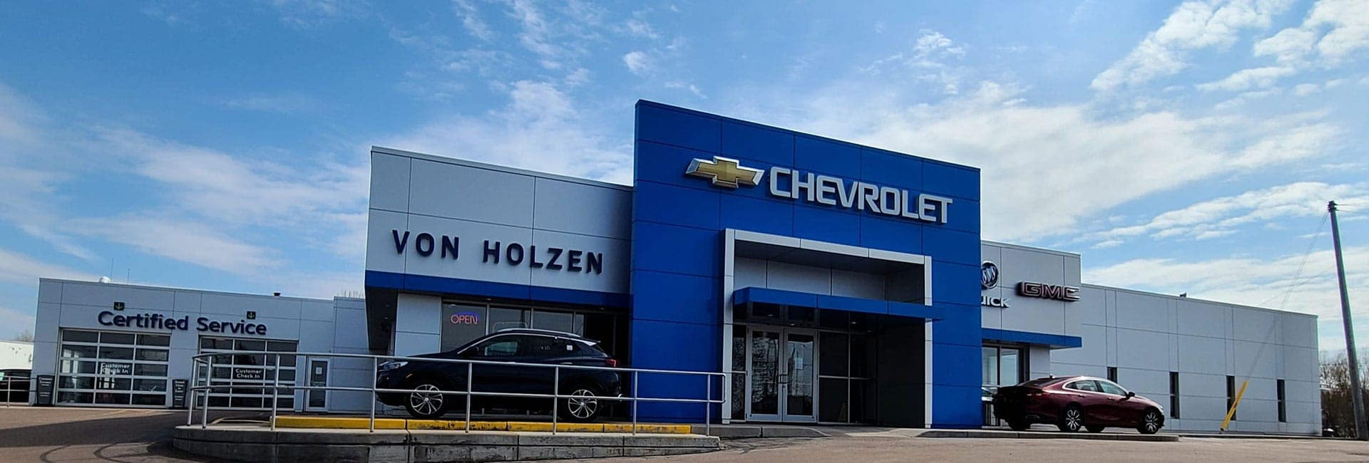 An exterior shot of the Von Holzen dealership